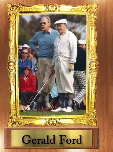 Gerald Ford President in Classic Tbarry Golf Knickers