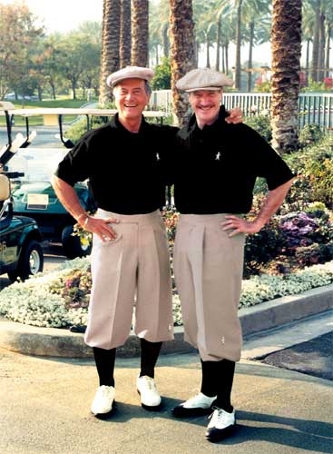 Pat Boone and Tim Barry in Golf Knickers!