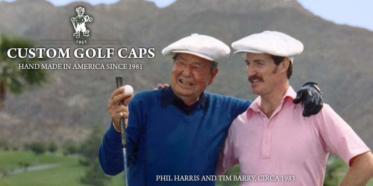 Phill Harris and Tim Barry - Custom made golf caps and hats.