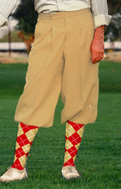 Executive Camel Knicker/ knickerbocker and argyle sock set.