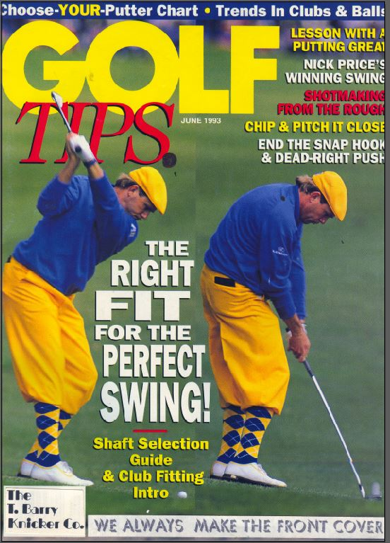 The Tbarry Knicker Co Payne Stewart in golf knickers magazine front cover