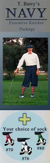 Navy Executive Golf Knicker