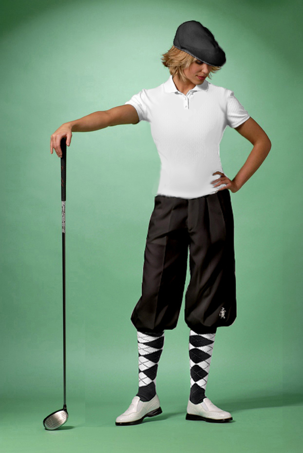 Ladies Classic Golf Knicker Package with Argyle Socks